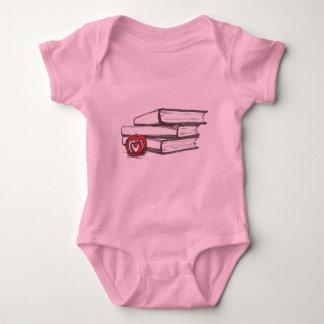 Books + An Apple | Customizable Baby Bodysuit