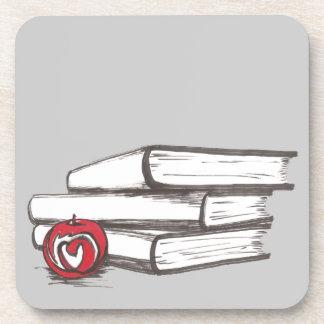 Books + An Apple | Customizable Coaster