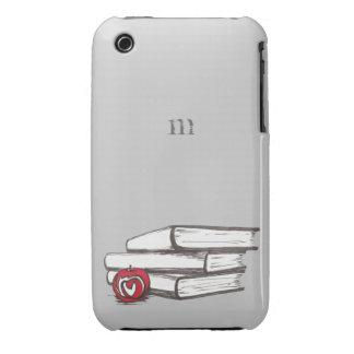 Books + An Apple   Customizable iPhone 3 Case-Mate Case