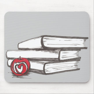 Books + An Apple Customizable Mouse Pads
