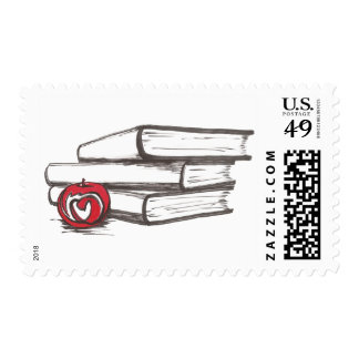 Books + An Apple | Customizable Stamp
