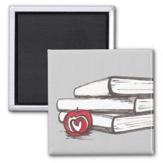Books + An Apple | Magnet | Customizable