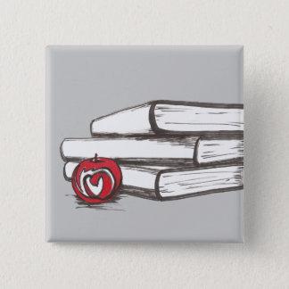 Books + An Apple | Pin | Customizable