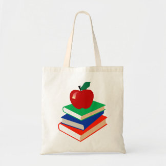 Books and Apple Tote Bags