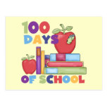 Books and Apples 100 Days of School Tshirts Post Card