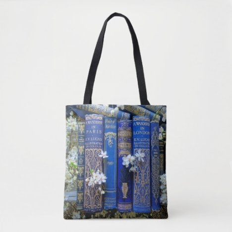 Books and Blossoms Tote Bag