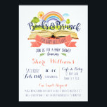 "Books and Brunch Baby Shower Invitation<br><div class=""desc"">Cute modern watercolor Books and Brunch themed baby shower invitation. Invite all guests to bring a book for baby instead of a card.</div>"