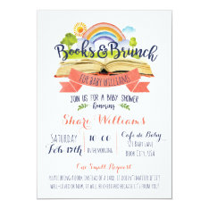 Books And Brunch Baby Shower Invitation at Zazzle