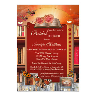 Books and Butterflies Bridal Shower Invitation