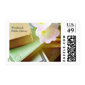 Books and flowers postage