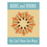 Books and Friends Postcard