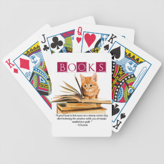 Books and Kitten Playing Cards Bicycle Playing Cards