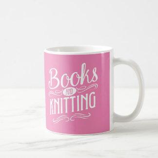 Books and Knitting Coffee Mug