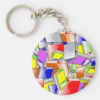 Books and more books keychain