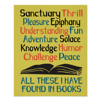 Books and Reading Poster - All These