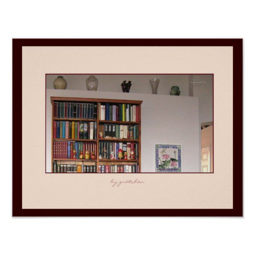 Books and Vases Poster by gretchen