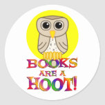 Books are a Hoot Stickers