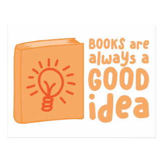 books are always a good idea postcard
