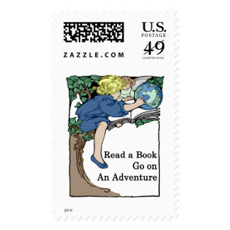 Books are an Adventure Stamp