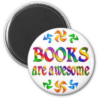 Books are Awesome 2 Inch Round Magnet