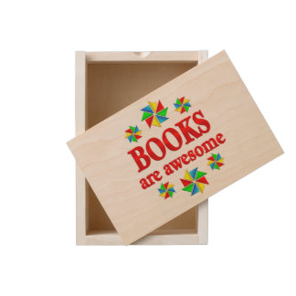 Books are Awesome Wooden Keepsake Box