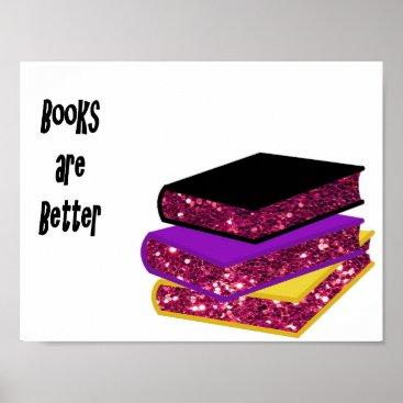 Art Themed Books are Better Poster