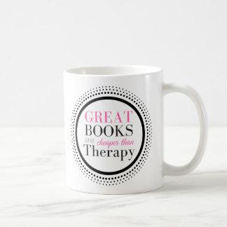 Books Are Cheaper Than Therapy Coffee Mug