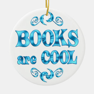 Books are Cool Christmas Ornaments