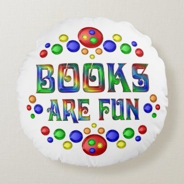 Beach Themed Books are Fun Round Pillow