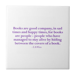 Books Are Good Company Tiles