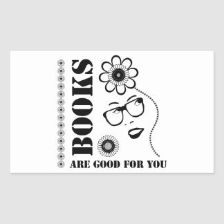 Books Are Good For You Rectangular Sticker