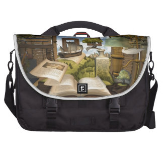 Books are knowledge! laptop commuter bag