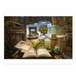 Books are knowledge! postcard