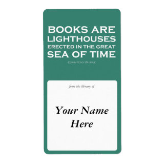Books Are Lighthouses Bookplate Shipping Labels