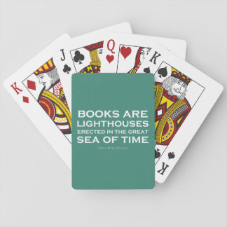 Books Are Lighthouses Poker Cards