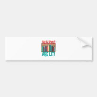 Books Are Lit Bumper Sticker