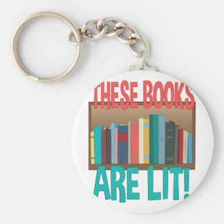 Books Are Lit Keychain