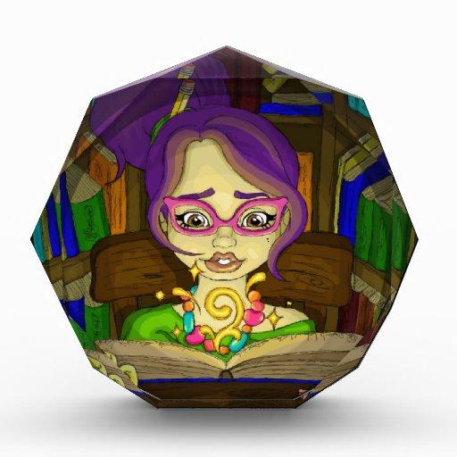 Books are magic acrylic award