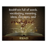 Books Are Magic Literacy Poster