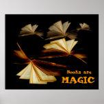 Books are magic poster