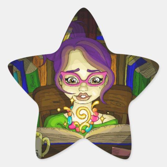 Books are magic star sticker