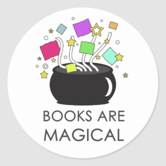 Books Are Magical Classic Round Sticker
