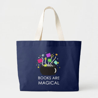 Books Are Magical Large Tote Bag