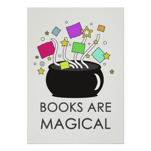Books Are Magical (Light) Poster