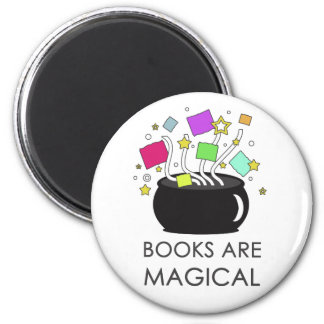 Books Are Magical Fridge Magnet