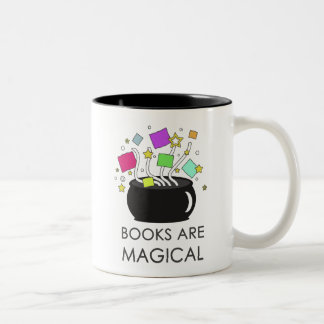 Books Are Magical Two-Tone Coffee Mug
