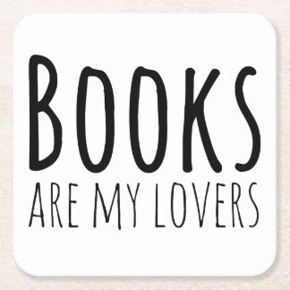 Books are my Lovers Square Paper Coaster