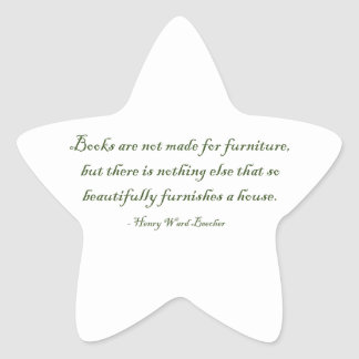 Books Are Not Made For Furniture Star Sticker