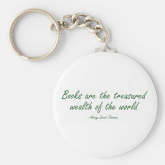 Books Are The Treasured Wealth of The World Key Chain
