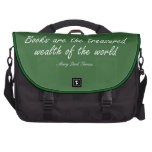 Books Are The Treasured Wealth of The World Laptop Bag